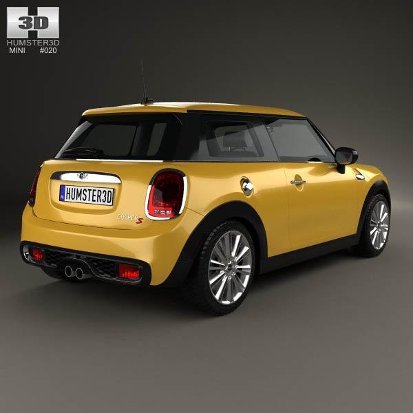 mini cooper s 2014 3d model humster3d. Black Bedroom Furniture Sets. Home Design Ideas