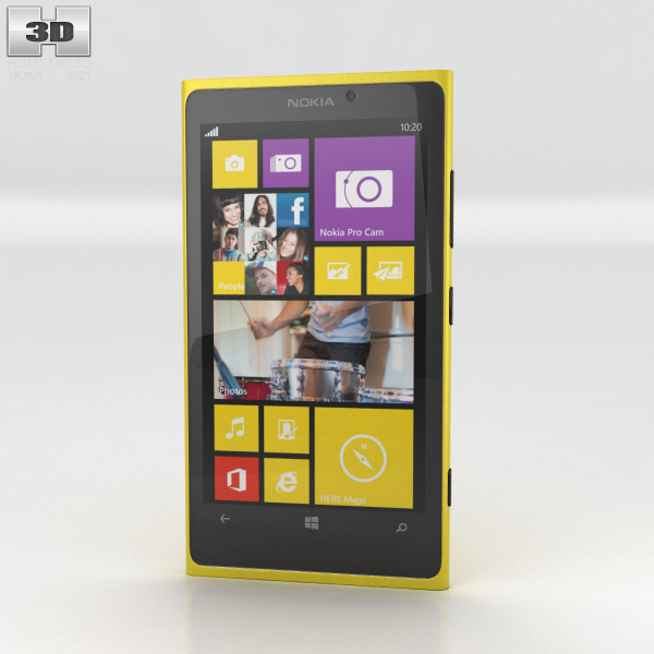 Nokia Lumia 1020 Yellow 3d model