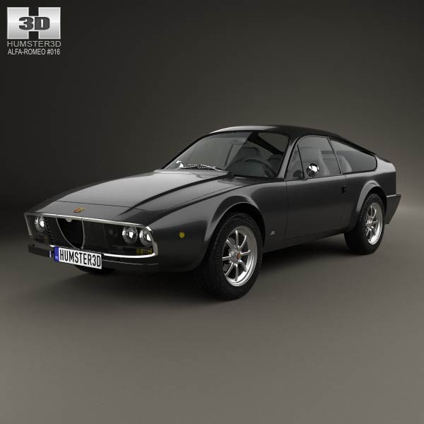 Alfa Romeo GT 1300 Junior Zagato 1972 3d car model