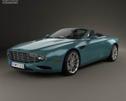 3D model of Aston Martin DB9 Spyder Zagato Centennial 2014