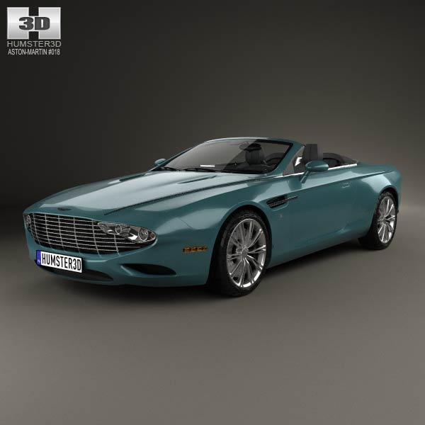 Aston Martin DB9 Spyder Zagato Centennial 2014 3d car model