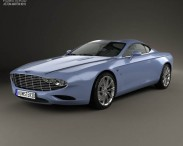 3D model of Aston Martin DB9 Coupe Zagato Centennial 2014