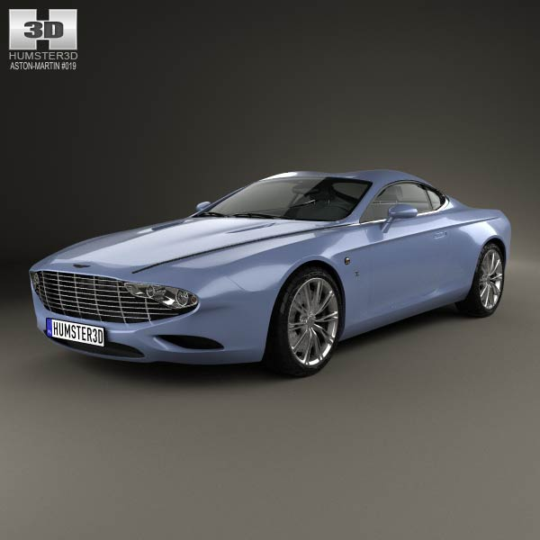 Aston Martin DB9 Coupe Zagato Centennial 2014 3d car model