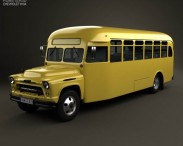 3D model of Chevrolet 6700 School Bus 1955