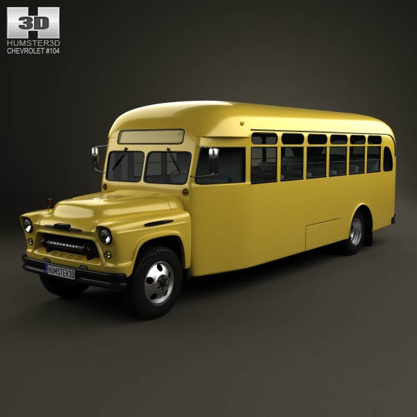 Chevrolet 6700 School Bus 1955 3d car model
