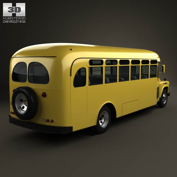 Chevrolet 6700 School Bus 1955 3d model