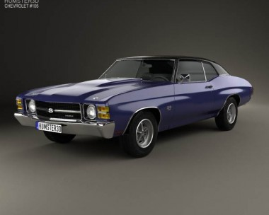 3D model of Chevrolet Chevelle SS 454 LS5 convertible 1971