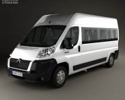 3D model of Citroen Jumper Passenger Van 2012