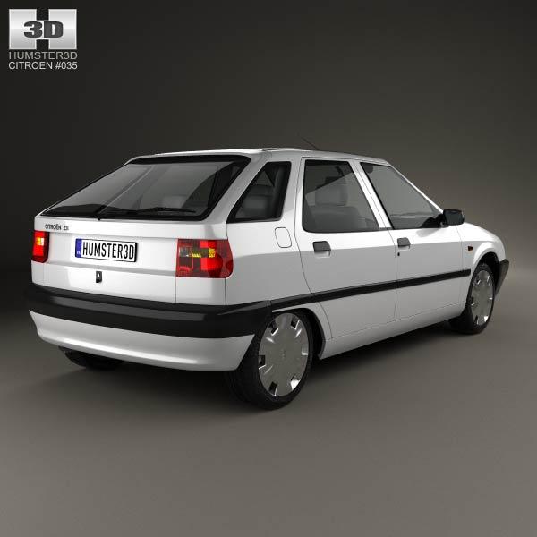 Citroen ZX 5-door hatchback 1991 3d model