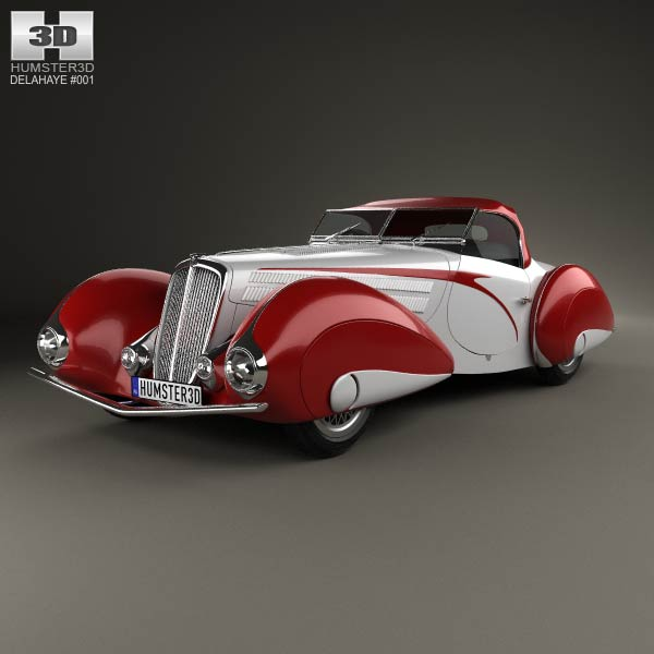 Delahaye 135M Figoni and Falaschi Convertible 1937 3d car model