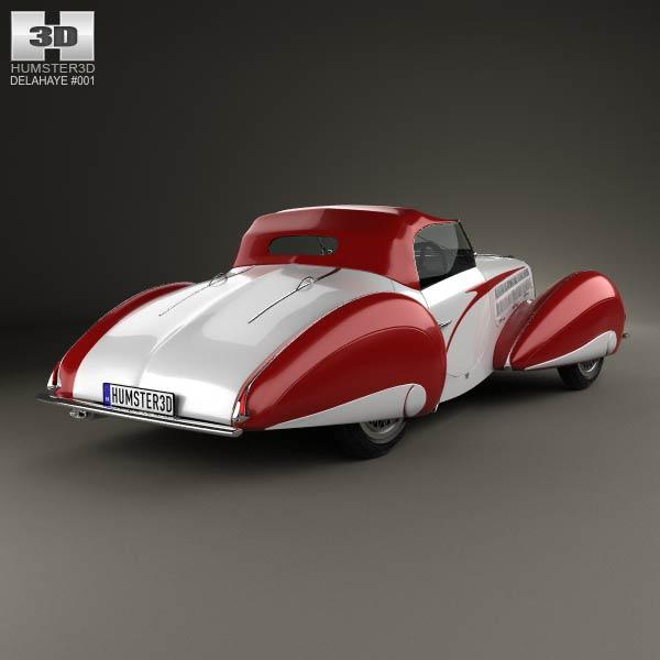 Delahaye 135M Figoni and Falaschi Convertible 1937 3d model