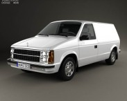 3D model of Dodge Mini Ram Van 1984