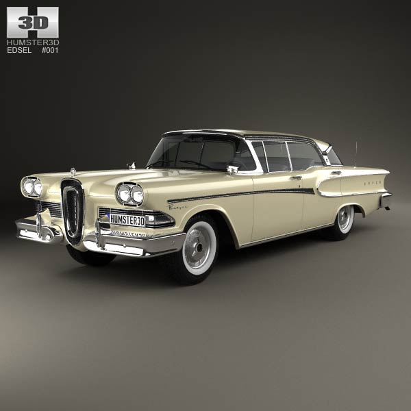 Edsel Ranger sedan 1958 3d car model