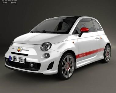 3D model of Fiat 500 Abarth 2012