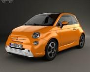 3D model of Fiat 500 E 2012