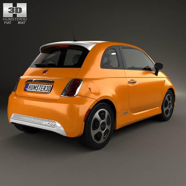 Fiat 500 E 2012 3d model
