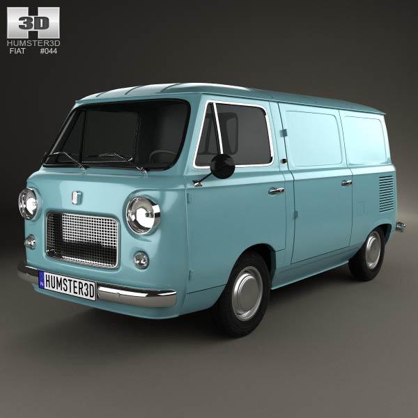 Fiat 600 T 1967 3d model