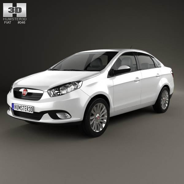 Fiat Siena 2012 3d car model