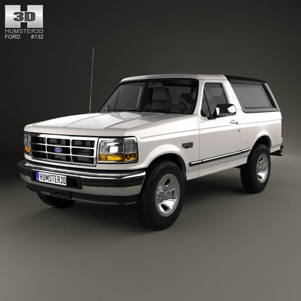 Ford Bronco 1992 3d car model