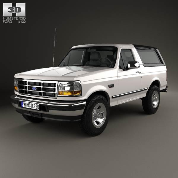 Ford Bronco 1992 3d car model