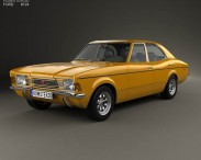 3D model of Ford Cortina TC Mark III sedan 1970