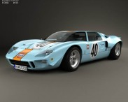 3D model of Ford GT40 1968