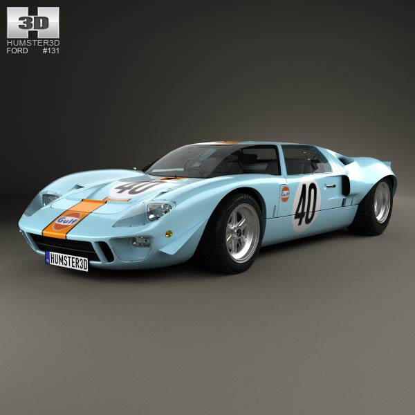 Ford GT40 1968 3d car model