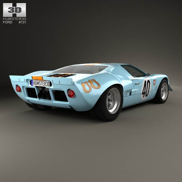 Ford GT40 1968 3d model