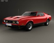 3D model of Ford Mustang Mach 1 1971