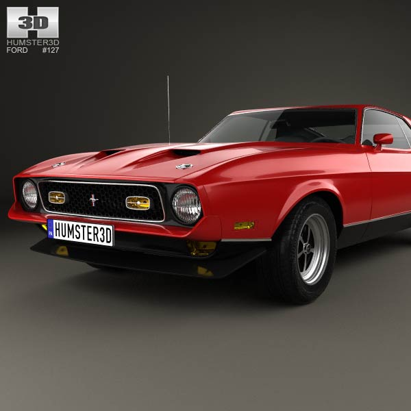 ford mustang mach 1 1971 3d model humster3d. Cars Review. Best American Auto & Cars Review