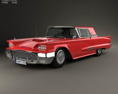 3D model of Ford Thunderbird Sport Coupe 1958