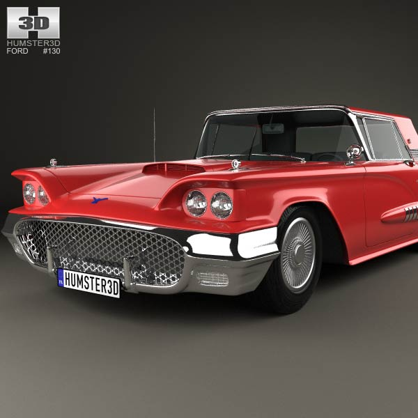 ford thunderbird sport coupe 1958 3d model humster3d. Cars Review. Best American Auto & Cars Review