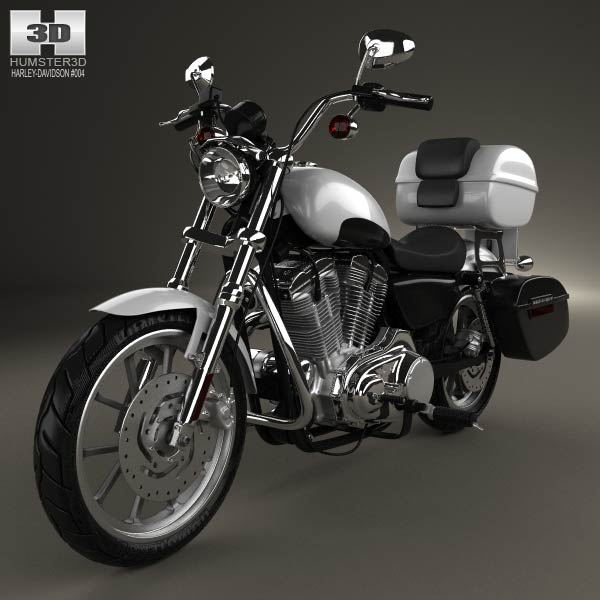 Harley-Davidson XL883L Police 2013 3d car model