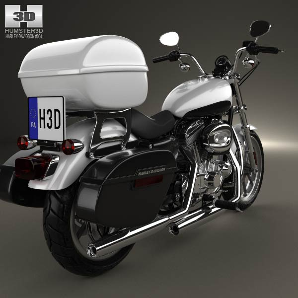 Harley-Davidson XL883L Police 2013 3d model