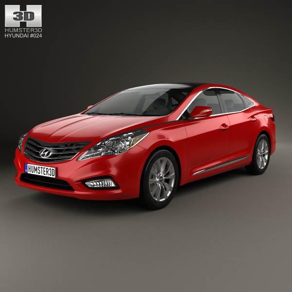 3D model of Hyundai Grandeur (HG) 2012