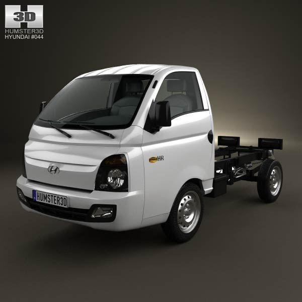 Hyundai HR (Porter) Chassis Truck 2013 3d car model