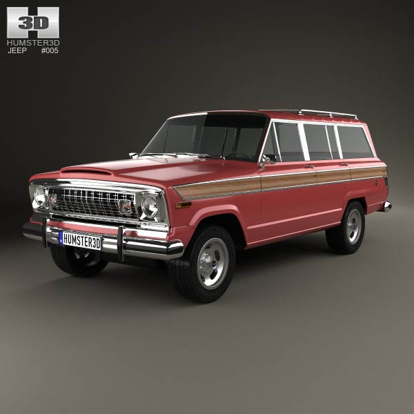 Jeep Wagoneer 1978 3d car model