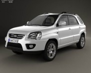 3D model of Kia Sportage 2008
