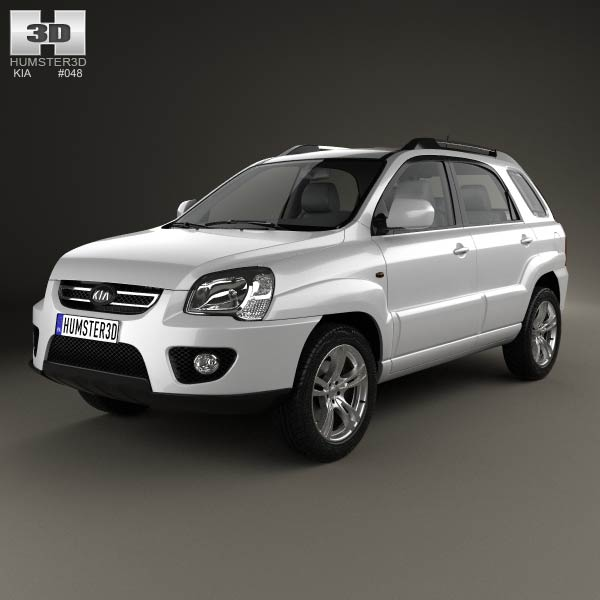 Kia Sportage 2008 3d car model