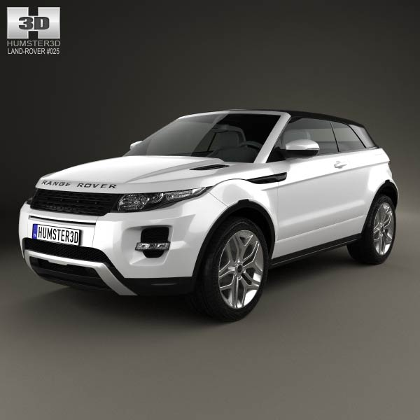 Land Rover Range Rover Evoque Convertible 2013 3d car model