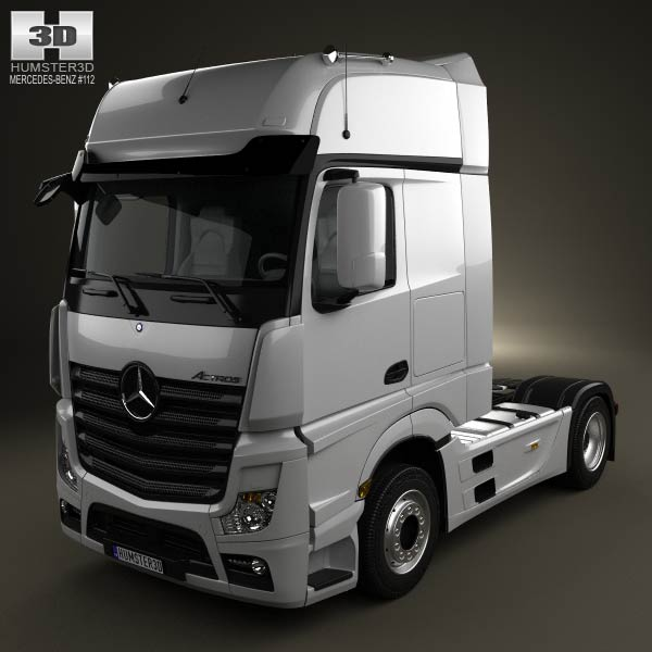 Mercedes-Benz Actros 1851 Tractor Truck 2-axis 2013 3d car model