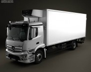 3D model of Mercedes-Benz Antos Box Truck 2012