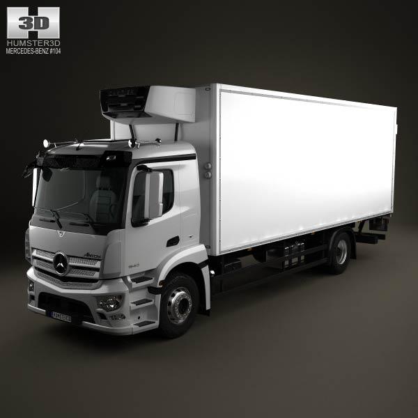 Mercedes benz antos box truck 2012 3d model humster3d for 2012 mercedes benz truck