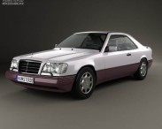 3D model of Mercedes-Benz E-class coupe 1993