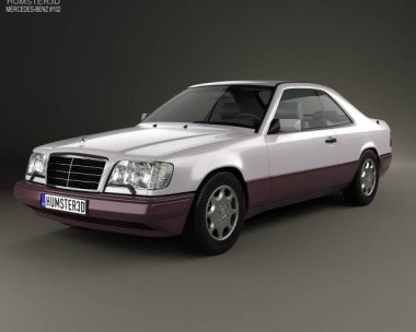 3D model of Mercedes-Benz E-class coupe 1993