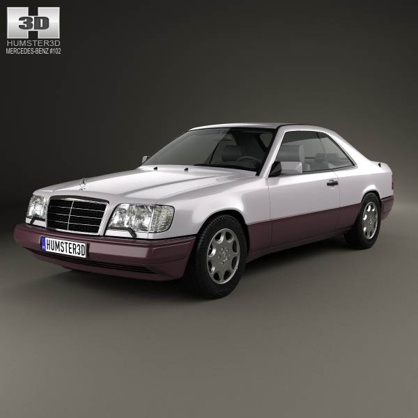 Mercedes benz e class coupe 1993 3d model humster3d for Mercedes benz e class models