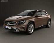 3D model of Mercedes-Benz GLA-class 2014
