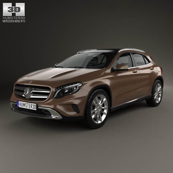 Mercedes benz gla class 2014 3d model humster3d for 2014 mercedes benz gla class