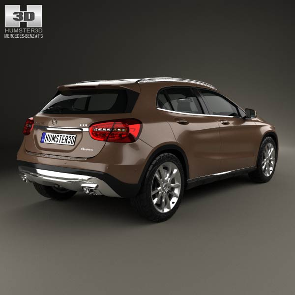 Mercedes benz gla class 2014 3d model humster3d for Mercedes benz gla 2014 price