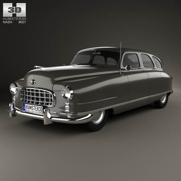 Nash Ambassador 1949 3d car model
